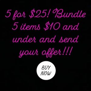 5 for $25 bundle